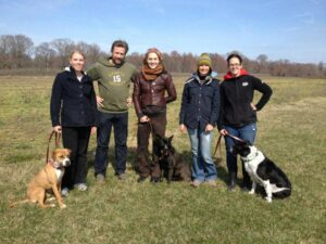 Virginia Beach Dog Trainer in training with fellow CTG trainers